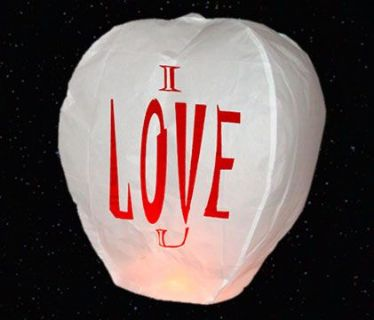 I Love You Chinese Lantern